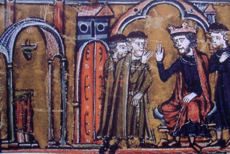 Balduino II de Jerusalén cediendo el Templo de Salomón a Huge de Payns, Guillaume de Ty